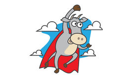 Super Cow Royalty Free Stock Images