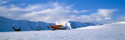 Super Cub Piper bush airplane,. Wrangell-St. Elias National Park, Alaska Stock Images