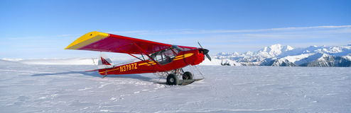 Super Cub Piper bush airplane, Stock Image