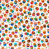 Super cupcake seamless pattern. Chocolate and Royalty Free Stock Photos
