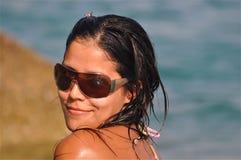 Super Cute Tropical Girl Stock Photo