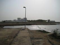 Super Cykloniczna burza Gon Muszkatołowy Oman Czerwiec 1, 2007 obraz stock