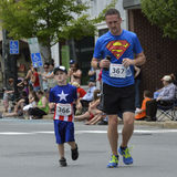 Super Dad and All-American Boy Stock Photography