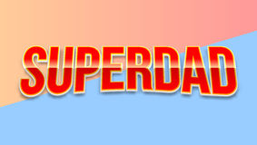 Super dad badge on colored background. Royalty Free Stock Photography
