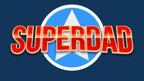 Super dad badge with star Royalty Free Stock Photo
