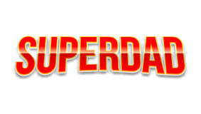 Super dad badge on white background. Royalty Free Stock Photos