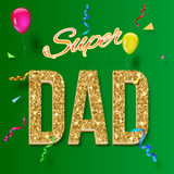 Super dad card Royalty Free Stock Photo