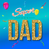 Super dad card Royalty Free Stock Photography