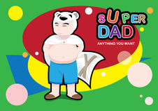Super Dad Royalty Free Stock Image