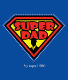 Super Dad Royalty Free Stock Photo