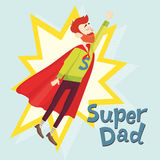 Super Dad. Fathers Day Greeting Card. Vector illustration. EPS 10 Stock Photography