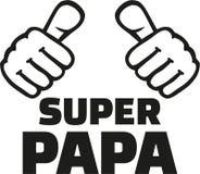 Super dad german. Slogan vector royalty free illustration