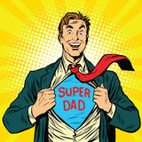 Super dad hero with a joyful smile Stock Photo