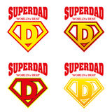 Super Dad hero Logo Supehero Letters Stock Images