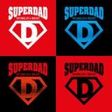 Super Dad hero Logo Supehero Letters Royalty Free Stock Photo