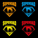 Super Dad hero Logo Supehero Letters Stock Photos