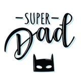`Super Dad` lettering poster Stock Image