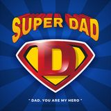 Super Dad Logo Design For Father`s Day. Royalty Free Stock Images