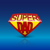 Super dad shield on blue background. Stock Photography
