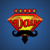 Super dad shield in pop art style. Stock Images