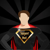 Super dad with super hero concept, happy fathers day- vector eps10. I have created super dad with super hero concept, happy fathers day card royalty free illustration