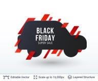 Super de Verkoopkenteken van Black Friday Stock Fotografie