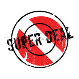 Super Deal rubber stamp. Grunge design with dust scratches. Effects can be easily removed for a clean, crisp look. Color is easily changed Stock Photo