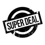 Super Deal rubber stamp. Grunge design with dust scratches. Effects can be easily removed for a clean, crisp look. Color is easily changed Stock Image