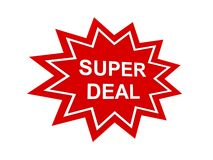 Super deal sign Stock Image