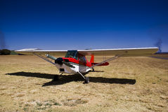 Super Decathlon. A two-seat fixed conventional gear light airplane designed for flight training and personal use and capable of sustaining aerobatic stresses stock photography