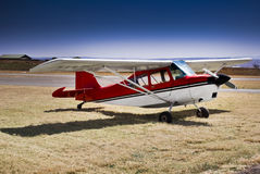 Super Decathlon. A two-seat fixed conventional gear light airplane designed for flight training and personal use and capable of sustaining aerobatic stresses royalty free stock photos