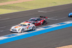 Super Definitieve Race 66 van GT Overlappingen bij 2015 AUTOBACS SUPER GT om 3 BU Royalty-vrije Stock Afbeeldingen
