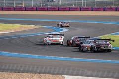 Super Definitieve Race 66 van GT Overlappingen bij 2015 AUTOBACS SUPER GT om 3 BU Stock Afbeeldingen