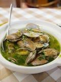 Super Delicious. Delicious clam in portugal restaurant Stock Photos