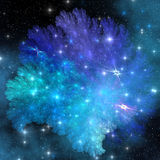 Super-Dense Relic. A collection of gasses and stars accumulate after a neutron star explosion Stock Images