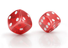 Super dice. On a white background Stock Photos