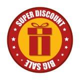 Super discount big sale red gift sticker star Stock Image