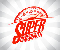 Super discounts design mockup Stock Images