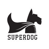 Super Dog Hero Emblem Stock Photo