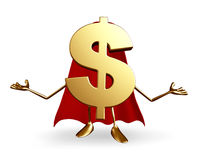 Super Dollar Character Royalty Free Stock Photography