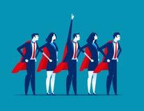 Super drużyna biznes Charakteru super lider Pojęcie biznesowa wektorowa ilustracja ilustracja wektor