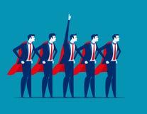Super drużyna biznes Charakteru super lider Pojęcie biznesowa wektorowa ilustracja ilustracji