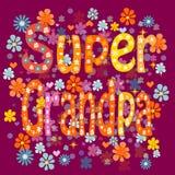 Super dziadunia urodziny Obraz Royalty Free