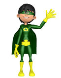 Super eco man hello Stock Photos