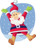 Super Excited Santa Claus Vector Cartoon Stock Photography