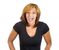Super excited woman Stock Images