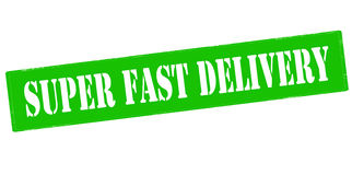 Super fast delivery Stock Image