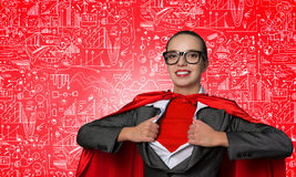 She is super financier Royalty Free Stock Images