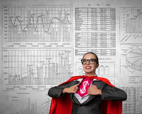 She is super financier Stock Photography