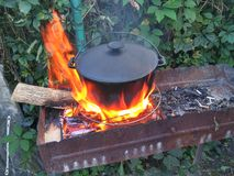 Super fire. On the garden Royalty Free Stock Image
